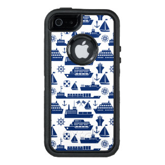 Ships And Boats At Sea Pattern OtterBox Defender iPhone Case