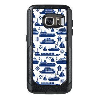 Ships And Boats At Sea Pattern OtterBox Samsung Galaxy S7 Case