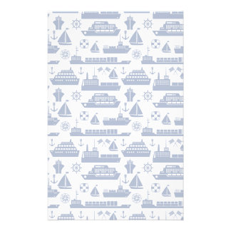 Ships And Boats At Sea Pattern Personalised Stationery