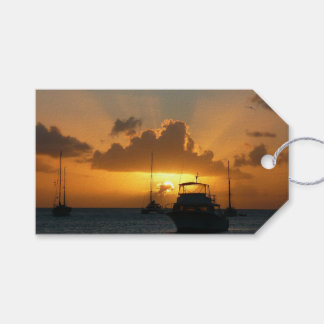 Ships and Sunset Tropical Seascape Gift Tags