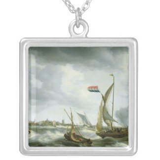 Ships at Sea Silver Plated Necklace