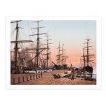 Ships at the Wharves at San Francisco circa 1900 Post Cards
