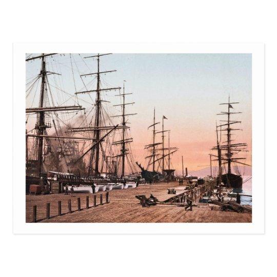 Ships at the Wharves at San Francisco circa 1900 Postcard