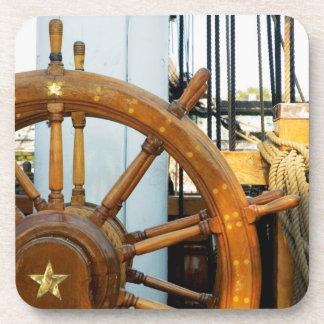 Ship'S Helm | Boston, Ma Beverage Coaster