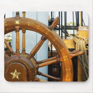 Ship'S Helm | Boston, Ma Mouse Mat