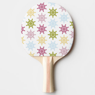 Ships helm pattern ping pong paddle