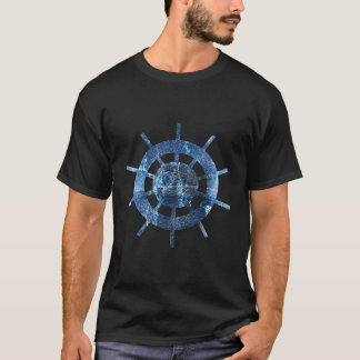Ship's Helm Rust Metal T-Shirt