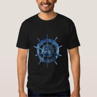 Ship's Helm Rust Metal Tshirts