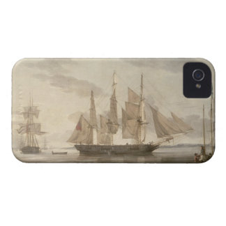 Ships in Harbour, 1805 (oil on canvas) iPhone 4 Case