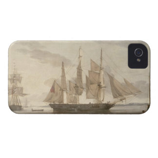 Ships in Harbour, 1805 (oil on canvas) iPhone 4 Covers