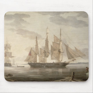 Ships in Harbour, 1805 (oil on canvas) Mouse Mat