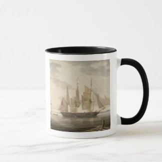 Ships in Harbour, 1805 (oil on canvas) Mug