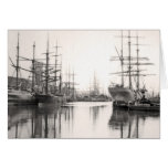 Ships in Harbour Greeting Card