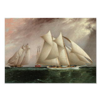 Ships in Hurricane Cup Race - Buttersworth Photographic Print