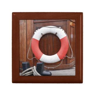 Ships Lifebelt Small Square Gift Box