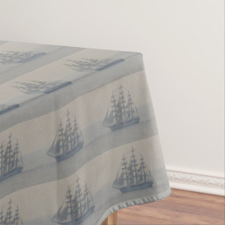 Ships Nautical Marine Sailboat Sailing Decor Tablecloth
