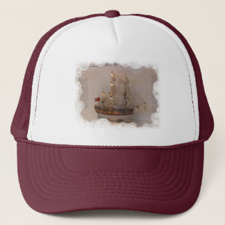 Ships of world Explorers, Captain James Cook Trucker Hat