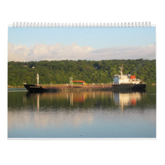 Ships On The Hudson River 2016 Wall Calendar