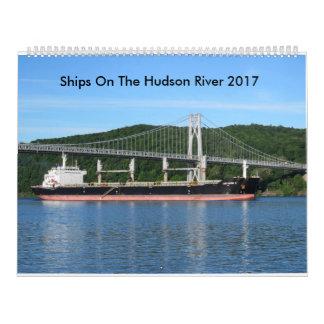 Ships On The Hudson River 2017 Wall Calendars