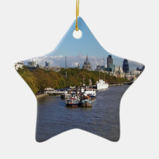 Ships on the Thames. Christmas Ornament
