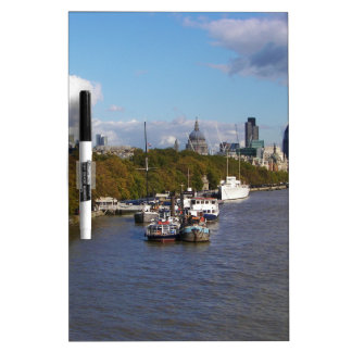Ships on the Thames. Dry Erase Board