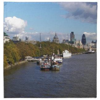 Ships on the Thames. Napkin