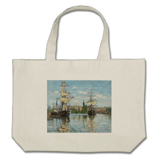 Ships Riding on the Seine at Rouen, 1872-73 Canvas Bag