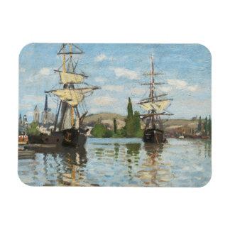 Ships Riding on the Seine at Rouen, 1872-73 Rectangular Photo Magnet