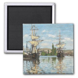 Ships Riding on the Seine at Rouen, 1872-73 Fridge Magnet