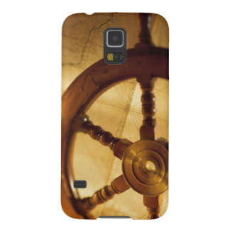Ship'S Wheel And Map Galaxy S5 Covers