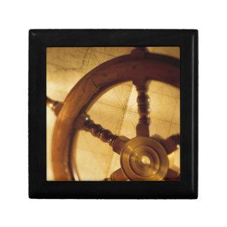 Ship'S Wheel And Map Gift Box