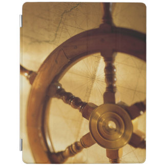 Ship'S Wheel And Map iPad Cover