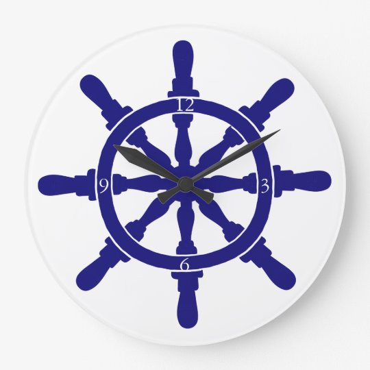 Ship's Wheel Large Clock
