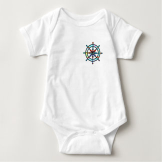 Ships's wheel baby bodysuit