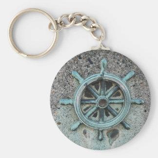 ShipWheel051709 Basic Round Button Key Ring