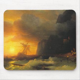 Shipwreck at Mount Athos Ivan Aivasovsky seascape Mouse Pad