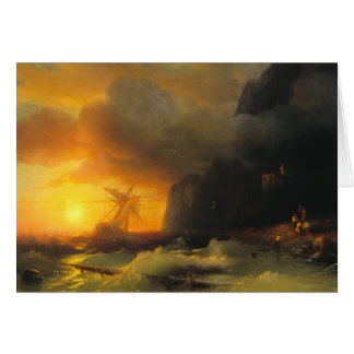 Shipwreck at Mount Athos Ivan Aivasovsky seascape Note Card