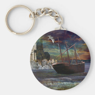 Shipwreck at pixie cove key ring