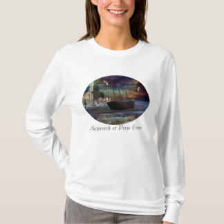Shipwreck at Pixie Cove- Oval T-Shirt