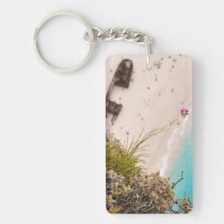 Shipwreck beach acrylic key chain