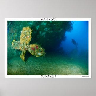 Shipwreck in Manado Poster