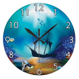 Shipwreck Large Clock