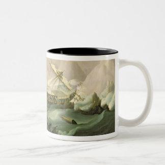 Shipwreck off a Rocky Coast (oil on canvas) Mugs