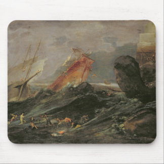 Shipwreck on a Rocky Shore, c.1645-50 Mouse Pad