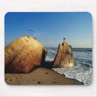 Shipwreck On Beach, Skeleton Coast, Namibia Mouse Pad