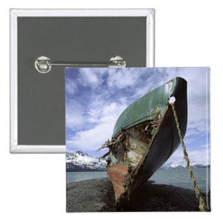 Shipwreck On Shore 15 Cm Square Badge