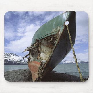 Shipwreck On Shore Mouse Pad