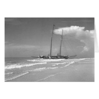 Shipwrecked Cuban Smack, Marco Island, Florida Greeting Card