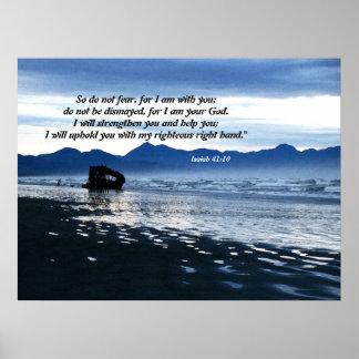 Shipwrecked Schooner Isaiah 41 10 Print
