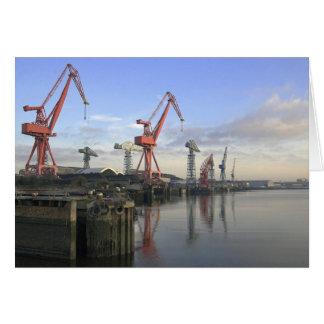 Shipyard Cranes Cards